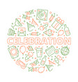 party icon event birthday celebration symbols in vector image vector image