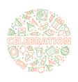 party icon event birthday celebration symbols in vector image