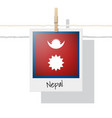 photo of nepal flag vector image
