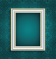 picture frame on vintage wallpaper 0508 vector image vector image