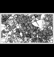 riyadh saudi arabia city map in black and white vector image