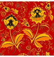 Seamless hohloma floral pattern vector image vector image