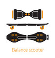 self balance hover board icons or logo vector image vector image