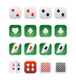 set icons for applications with playing cards vector image