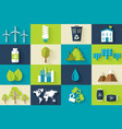 set of ecology flat icons concept vector image vector image