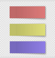 set sticky note or office paper sheet vector image