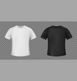 set white and black template t-shirt vector image