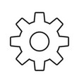setting line black icon vector image vector image