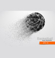 silhouette of a basketball ball from particles