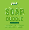 soap bubble funny rounded 3d alphabet vector image