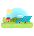 solar panels bright flat vector image