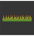 sound waveforms icon pixel vector image vector image