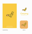 sparrow company logo app icon and splash page vector image