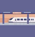 subway platform empty metro station interior vector image