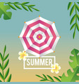 summer season vacation with tropical trees and vector image