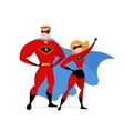 Super hero couple - woman and man vector image