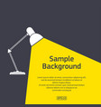 table light with sample text vector image vector image