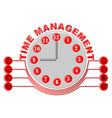 time management thema with glock face and business vector image vector image