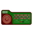 traditional european roulette table casino vector image