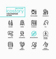 vaccination - line design style icons set vector image vector image
