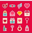 Valentine Day Love Stickers vector image vector image