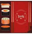vintage sushi menu vector image vector image