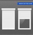 window roller shutters set vector image