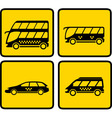 yellow passenger transport icon vector image vector image