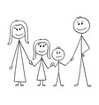cartoon of happy family vector image
