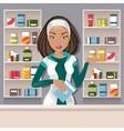Female pharmacist vector image