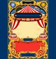 circus editable frame vector image