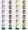 Windows set Flat exterior icons vector image