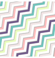 abstract oblique wavy zigzag pastels color vector image vector image