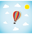 Abstract paper air balloon vector image vector image