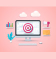 ad targeting concept in 3d style vector image vector image