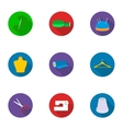 Atelie set icons in flat style Big collection of vector image vector image