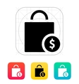 Bag cost icon vector image