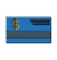 bank credit card debit money plastic vector image