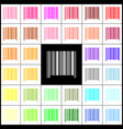 bar code sign felt-pen 33 colorful icons vector image vector image