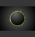 Black background with glow green light vector image vector image