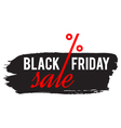 black friday sale concept vector image vector image