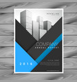 business annual report brochure design vector image vector image