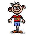 cartoon image of boy icon man symbol vector image