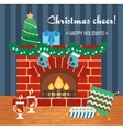 Christmas attributes Christmas gift card vector image vector image