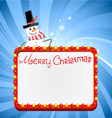 christmas lights with snowman vector image vector image
