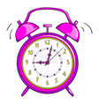 clock alarm on white background isolated vector image vector image