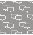 Dialog seamless pattern vector image vector image
