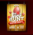 easter egg hunt party flyer vector image vector image