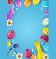 easter poster template with 3d realistic easter vector image vector image
