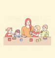 education teaching playing game study concept vector image